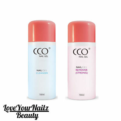 Cco Uv/led Gel Nail Varnish Remover And Cleanser 75Ml + 150Ml Bottles