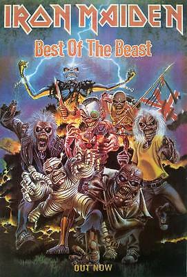 "IRON MAIDEN Best of the Beast POSTER (1996) 23""x34"" English Heavy Metal Freeship"