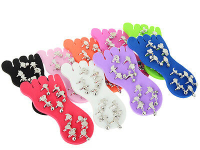 Fashion Wholesale Jewelry Lots Mixes Colors 12pcs Foot Toe Rings + Display