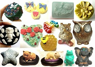 ANIMAL SILICONE / SOFT or PVC MOULD For Soap, candles: DIY Owl, Bee + YOU CHOOSE
