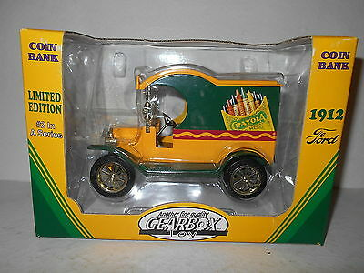 1998 Gearbox Limited Coin Bank - 1912 Ford Crayola Truck - NEW