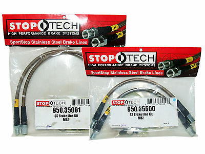 Stoptech Stainless Steel Braided Brake Lines (Front & Rear Set / 35001+35500)