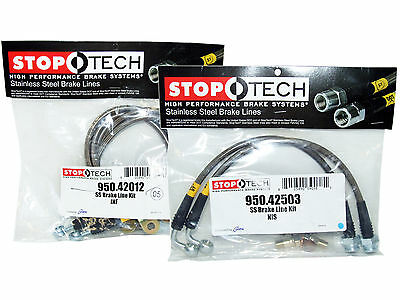 Stoptech Stainless Steel Braided Brake Lines (Front & Rear Set / 42012+42503)