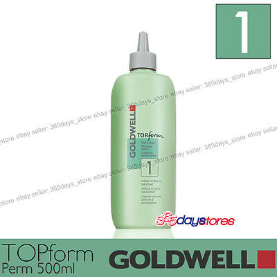 """Goldwell Topform Permanent Lotion 500ml """"Type 1"""" For normal to fine natural hair"""