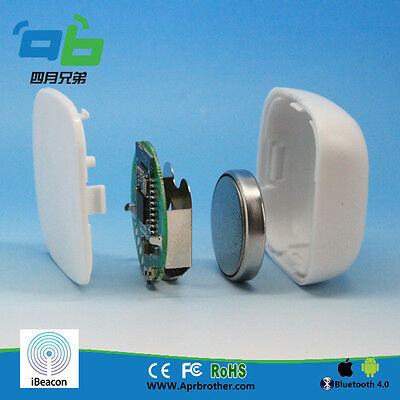 2sets New arrival AprilBeacon 202 with iBeacon Tech white with logo ios/android