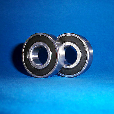 2 Kugellager 6203 2RS / 17 x 40 x 12 mm