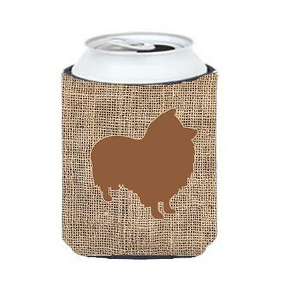 Carolines Treasures Sheltie Burlap And Brown Can Or Bottle Hugger