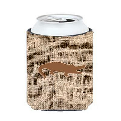 Carolines Treasures Alligator Burlap And Brown Can Or Bottle Hugger
