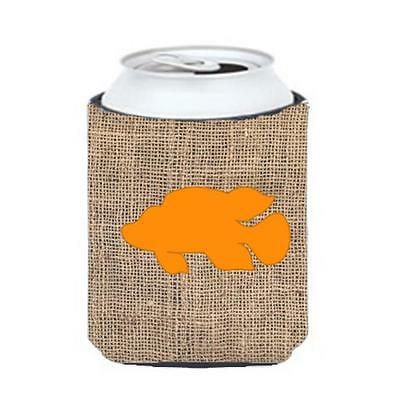 Carolines Treasures Fish Tropical Fish Burlap and Orange Can or Bottle Hugger