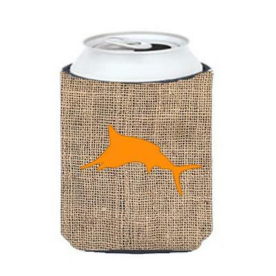 Carolines Treasures Fish Marlin Burlap and Orange Can or Bottle Hugger
