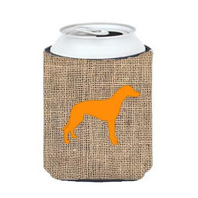 Carolines Treasures Greyhound Burlap And Orange Can Or Bottle Hugger