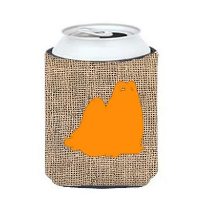 Carolines Treasures Maltese Burlap And Orange Can Or Bottle Hugger