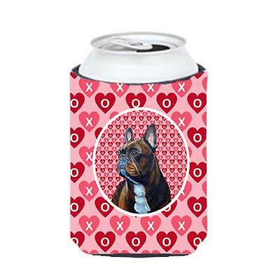 French Bulldog Valentines Love And Hearts Can Or Bottle Hugger 12 oz.