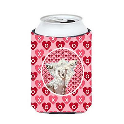 Chinese Crested Valentines Love and Hearts Can or bottle sleeve Hugger