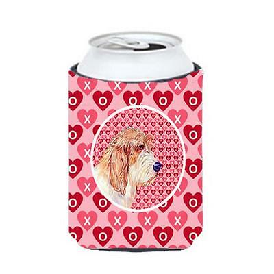 Petit Basset Griffon Vendeen Valentines Love and Hearts Can or bottle sleeve ...