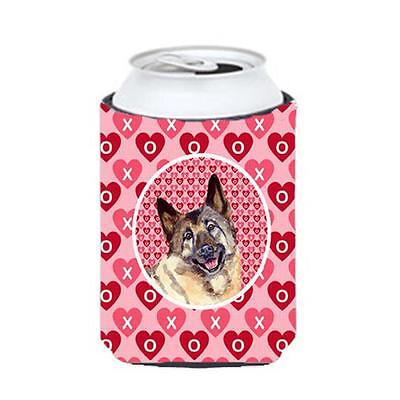 Norwegian Elkhound Valentines Love and Hearts Can or bottle sleeve Hugger