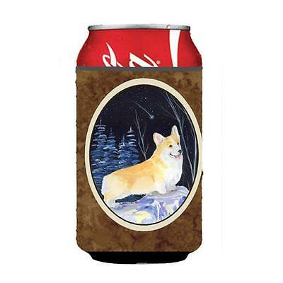 Carolines Treasures Starry Night Corgi Can Or bottle sleeve Hugger 12 oz.
