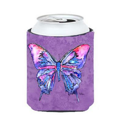 Carolines Treasures Butterfly On Purple Can Or bottle sleeve Hugger 12 oz.