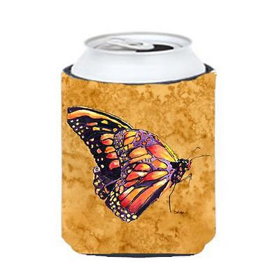 Carolines Treasures 8858CC Butterfly On Gold Can Or bottle sleeve Hugger 12 oz.