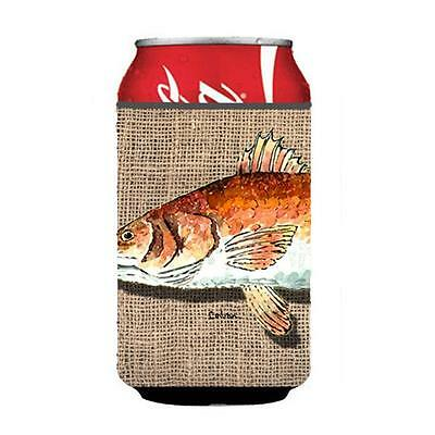Carolines Treasures 8736CC Red Fish Can Or bottle sleeve Hugger 12 oz.