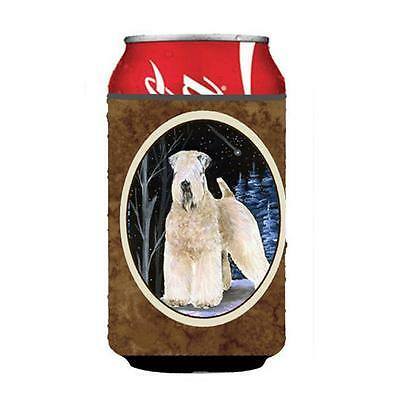 Starry Night Wheaten Terrier Soft Coated Can Or bottle sleeve Hugger 12 oz.