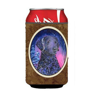 Starry Night Curly Coated Retriever Can Or bottle sleeve Hugger 12 oz.