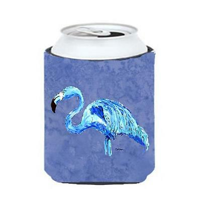 Carolines Treasures Flamingo On Slate Blue Can Or bottle sleeve Hugger 12 oz.