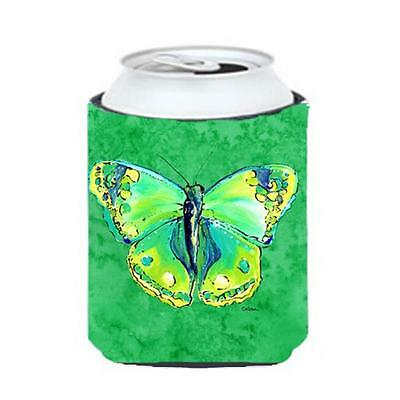 Carolines Treasures Butterfly Green On Green Can Or bottle sleeve Hugger 12 oz.