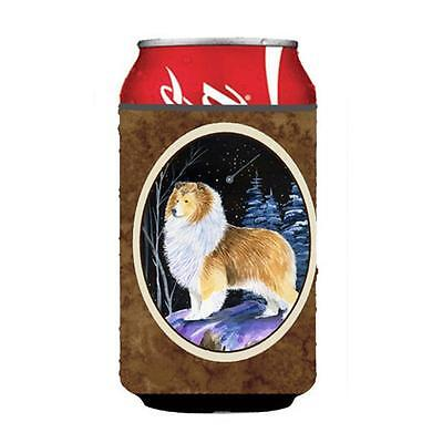 Carolines Treasures Starry Night Sheltie Can Or bottle sleeve Hugger 12 oz.