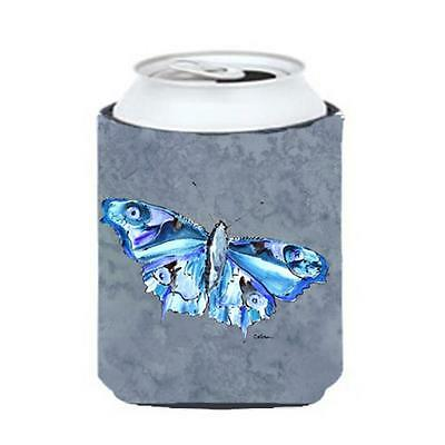 Carolines Treasures 8856CC Butterfly On Gray Can Or bottle sleeve Hugger 12 oz.