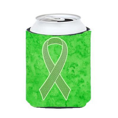 Lime Green Ribbon for Lymphoma Cancer Awareness Can or Bottle Hugger, 12 Oz.