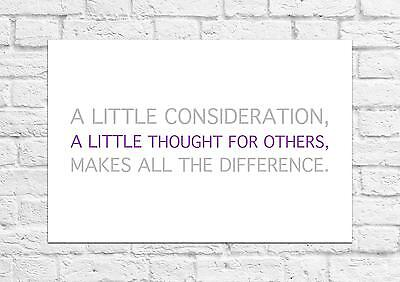 A Little Thought For Others - Winnie The Pooh Quote - Poster/Art Print A4 Size