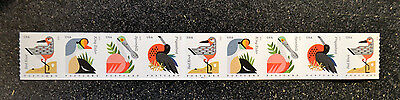 2015USA #4995-4998  Postcard Rate  Coastal Birds PNC Coil Strip of 9 Mint #P1111
