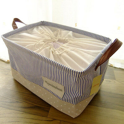 Extra Large Collapsible Canvas Storage Box Laundry Bin Basket