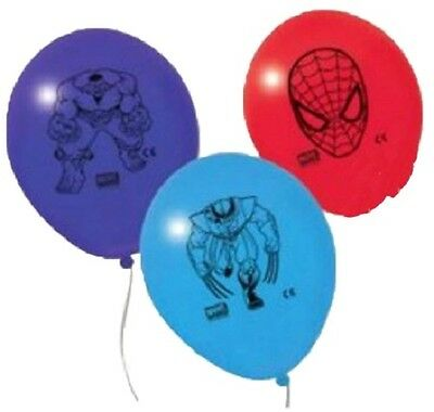 10 Palloncini Set Compleanno Avengers Marvel