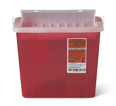 Medline Biohazard Patient Room Sharps Containers, 5 Qt (Case of 20) - MDS705153