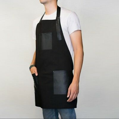 Apron Leather Pockets For Tools Woodwork & Crafts Work Machinist Barber BDBLP