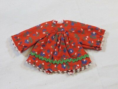 Vintage Original Barbie Tutti #3604 Skippin' Rope Red Floral Dress GUC