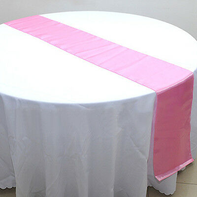 Wedding Party Banquet Table Runner Satin Decoration Supplies