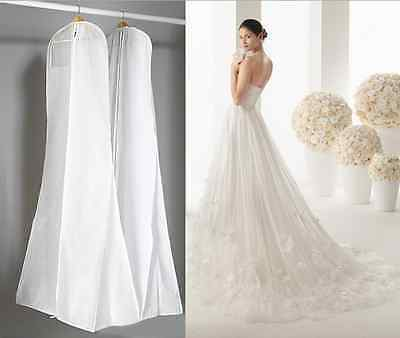 Wedding Evening Party Dress Bridal Gown Garment Dustproof Cover Storage Bag 1.8m