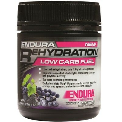 Endura Nutrition NEW 128g Sport Supplements Grapeberry Rehydration Low Carb Fuel