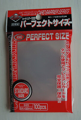 packs Perfect Fit / Size Sleeves KMC Card Barrier 100 CT