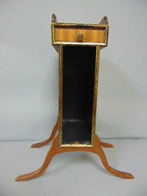Antique Mahogany Or Walnut Queen Anne Style Smoking Magazine Stand