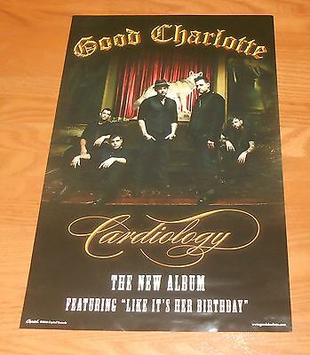 Good Charlotte Cardiology Poster Original 2010 Promo 17x11