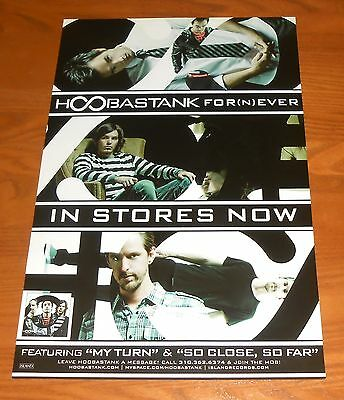 Hoobastank For(N)Ever Poster Original 2-Sided Promo 17x11