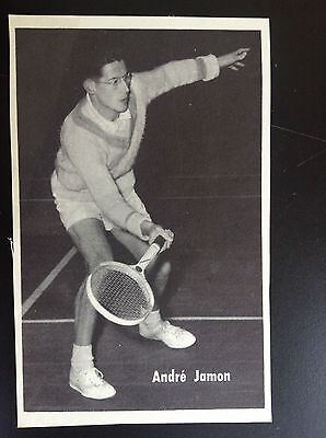 CPA carte postale Lotto photo André Jamon tennis Sport