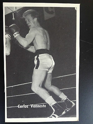 CPA carte postale Lotto photo Carlos Vanneste Sport Boxe