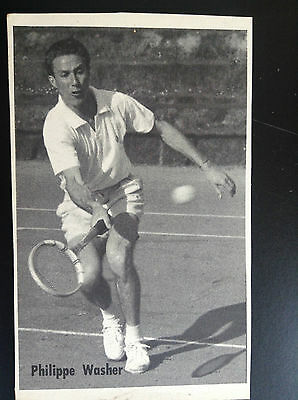 CPA carte postale Lotto photo Philippe Washer Tennis Sport
