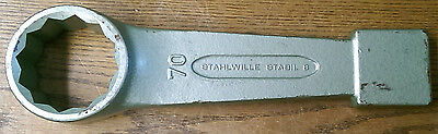 UNUSED NOS Stahlwille 42010070 Stabil 8 70mm Slogging Striking Face Ring Wrench
