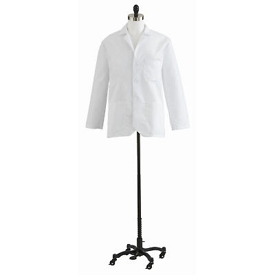 Medline Men's Consultation Coat, White (Size 32-58) - Style MDT10WHT